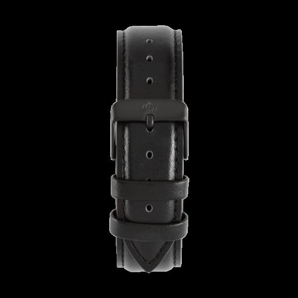 Charlemain-Damen-Armband-Leder-schwarz-schwarz