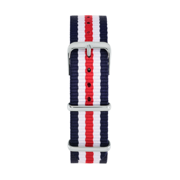 Charlemain-women-strap-Nylon-Blue-White-Red-silver