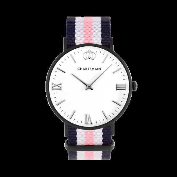 Women-Charlemain-Black-White-Nylon-Blue-White-Pink
