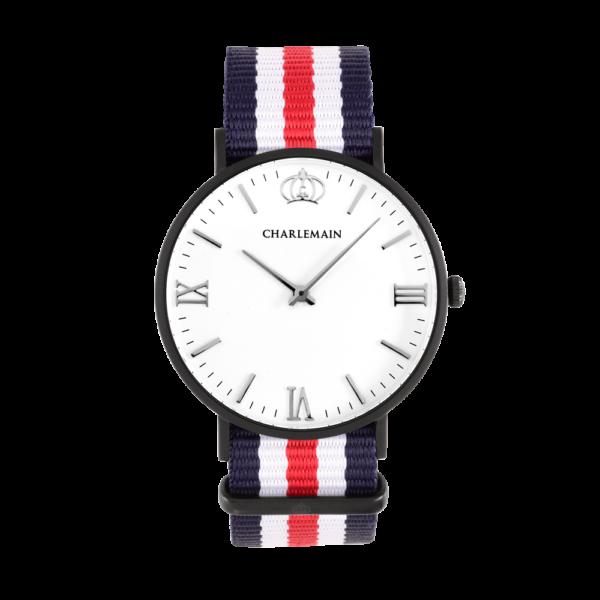 Women-Charlemain-Black-White-Nylon-blue-white-red