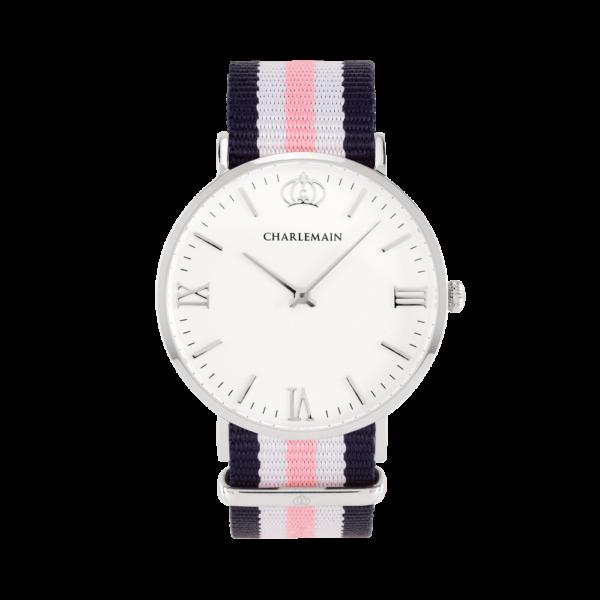 Women-Charlemain-Silver-white-Nylon-Blue-White-Pink