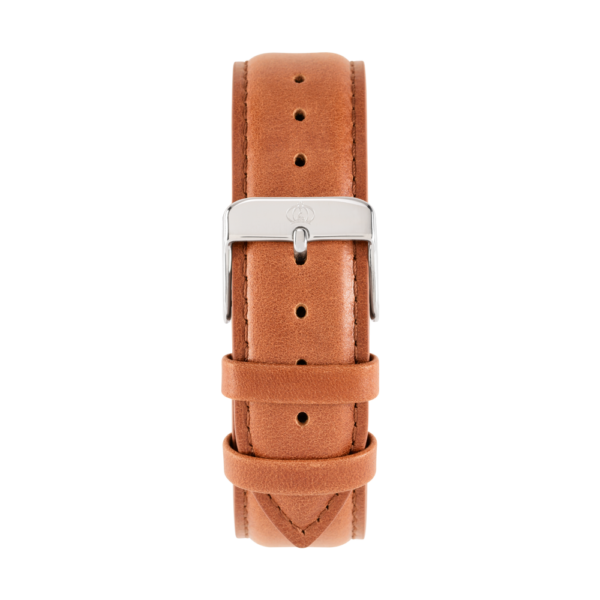 Charlemain-Women-Strap-leather-brown-silver