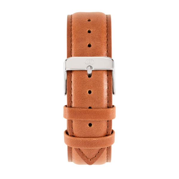 Charlemain-Men-Strap-Leather-brown-Silver