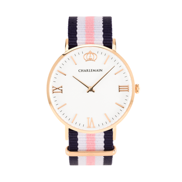 Women-Charlemain-Rose-White-Nylon-Blue-White-Pink