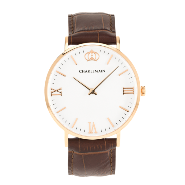 Men-Charlemain-Rose-white-leather-darkbrown