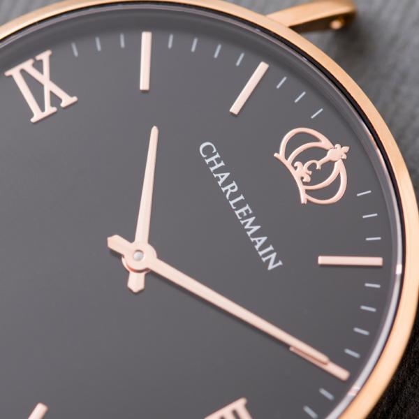 Charlemain-Front-Rosegold-Black